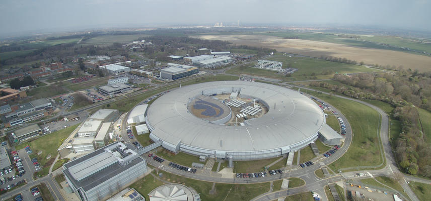 Aerial view of Diamond Light Source