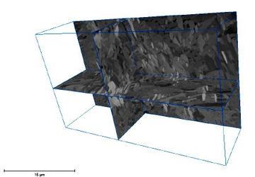 3D figure showing BSE images of Zr-Nb Alloy